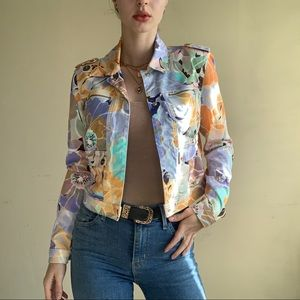 NWT Guess - Marciano Colorful Floral Jacket